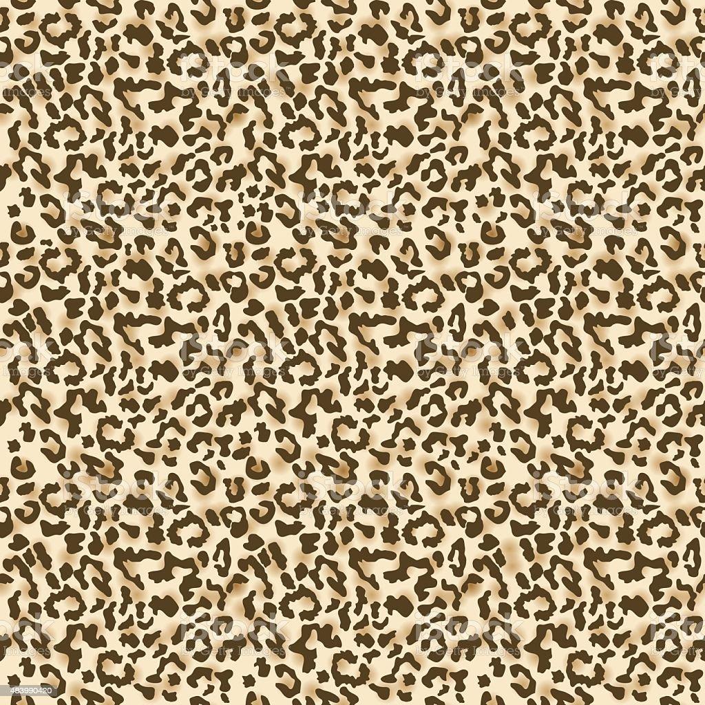 Leopard seamless pattern vector art illustration