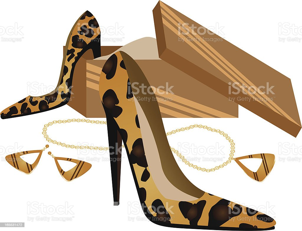 Leopard Shoes royalty-free stock vector art