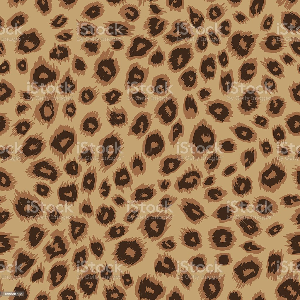 Leopard skin vector art illustration