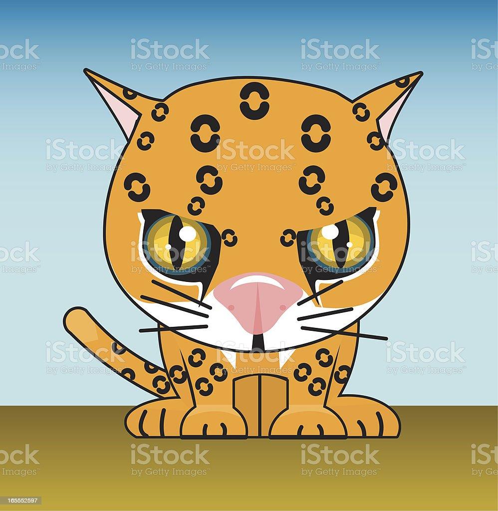 leopard vector art illustration