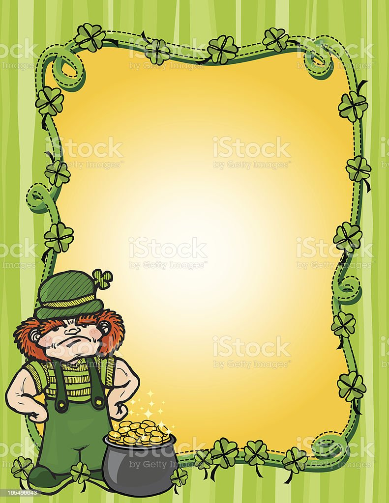 leprechaun frame 3 royalty-free stock vector art