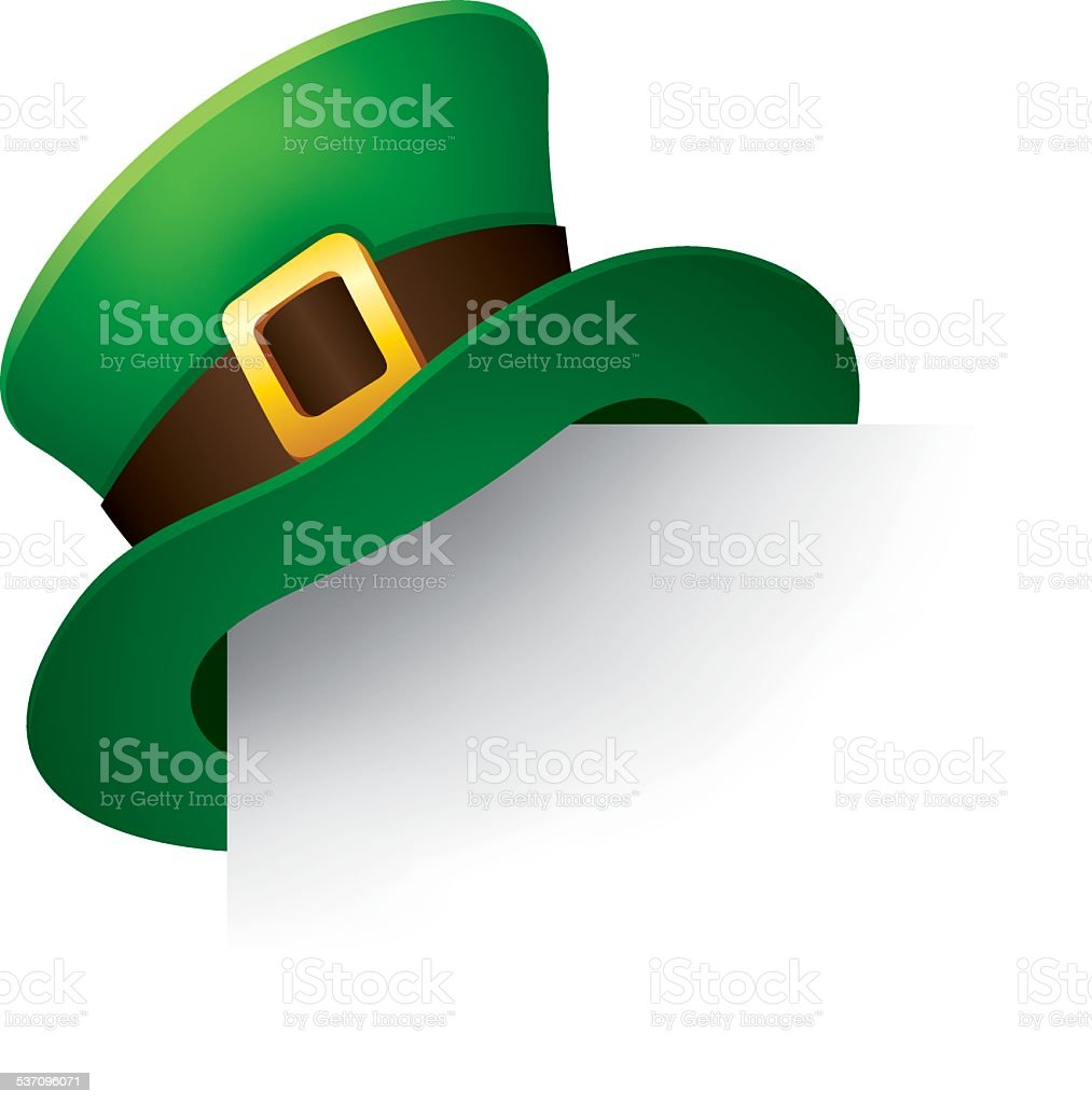Leprechaun hat vector art illustration