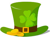 Leprechaun hat vector illustration.