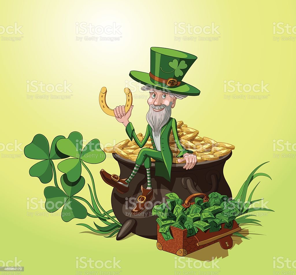 Leprechaun. St. Patrick's day. vector art illustration
