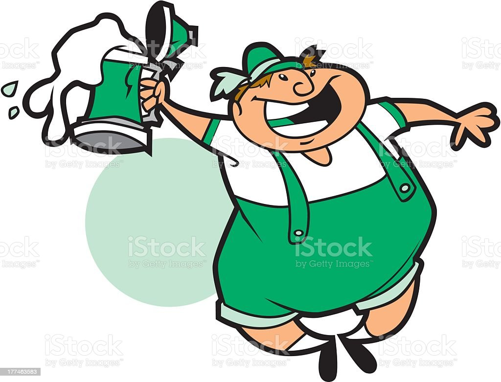 Leprechaun With HIs Beer Stein royalty-free stock vector art