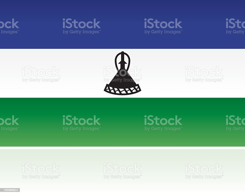 Lesotho Country Flag, Southern Africa royalty-free stock vector art