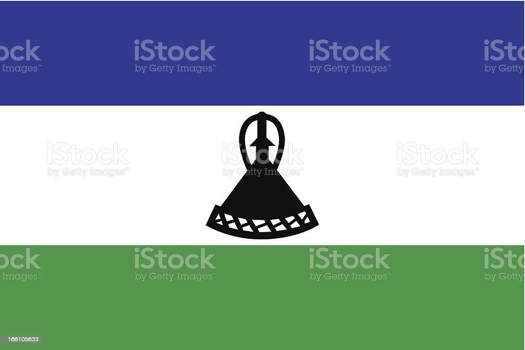 Lesotho Flag royalty-free stock vector art