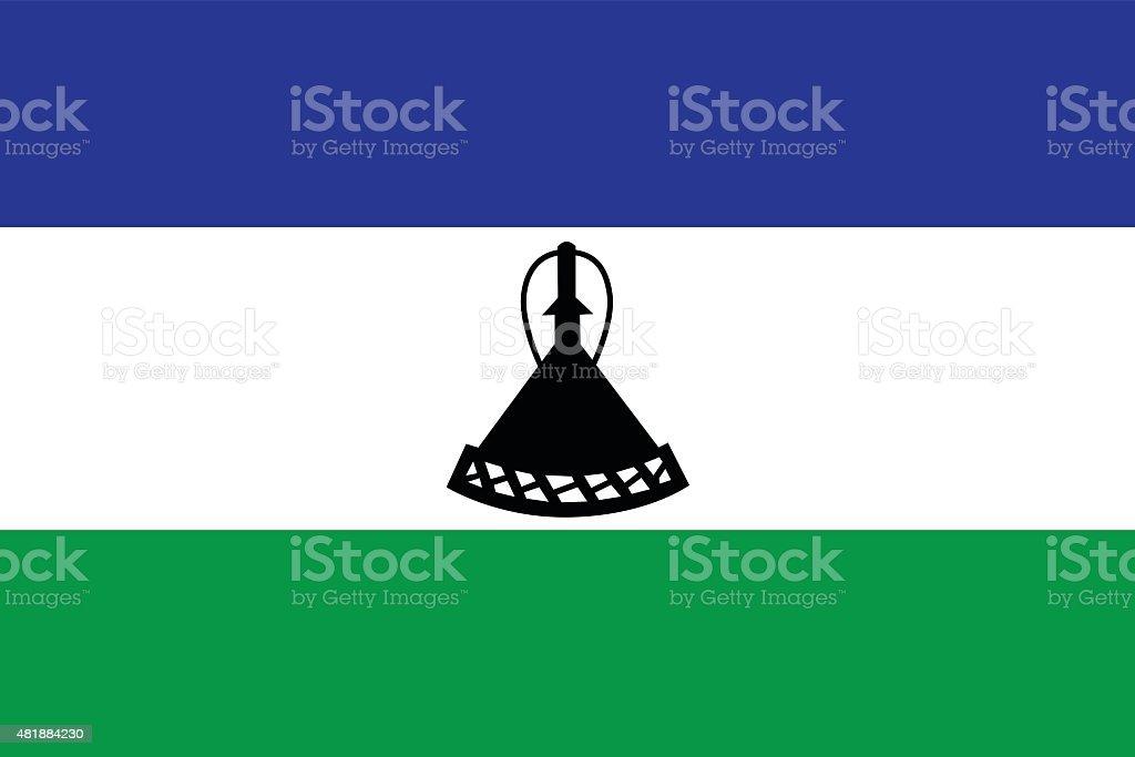 Lesotho flag vector vector art illustration