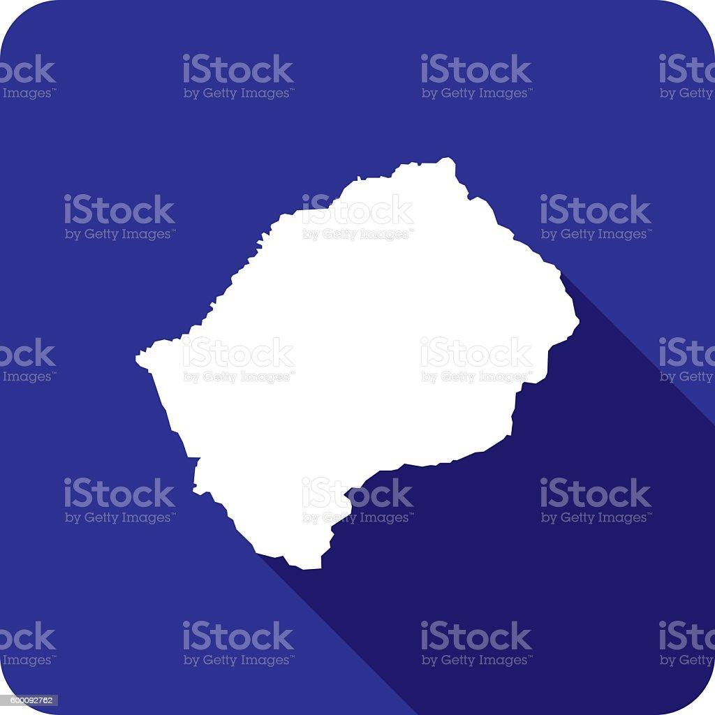 Lesotho Icon Silhouette vector art illustration