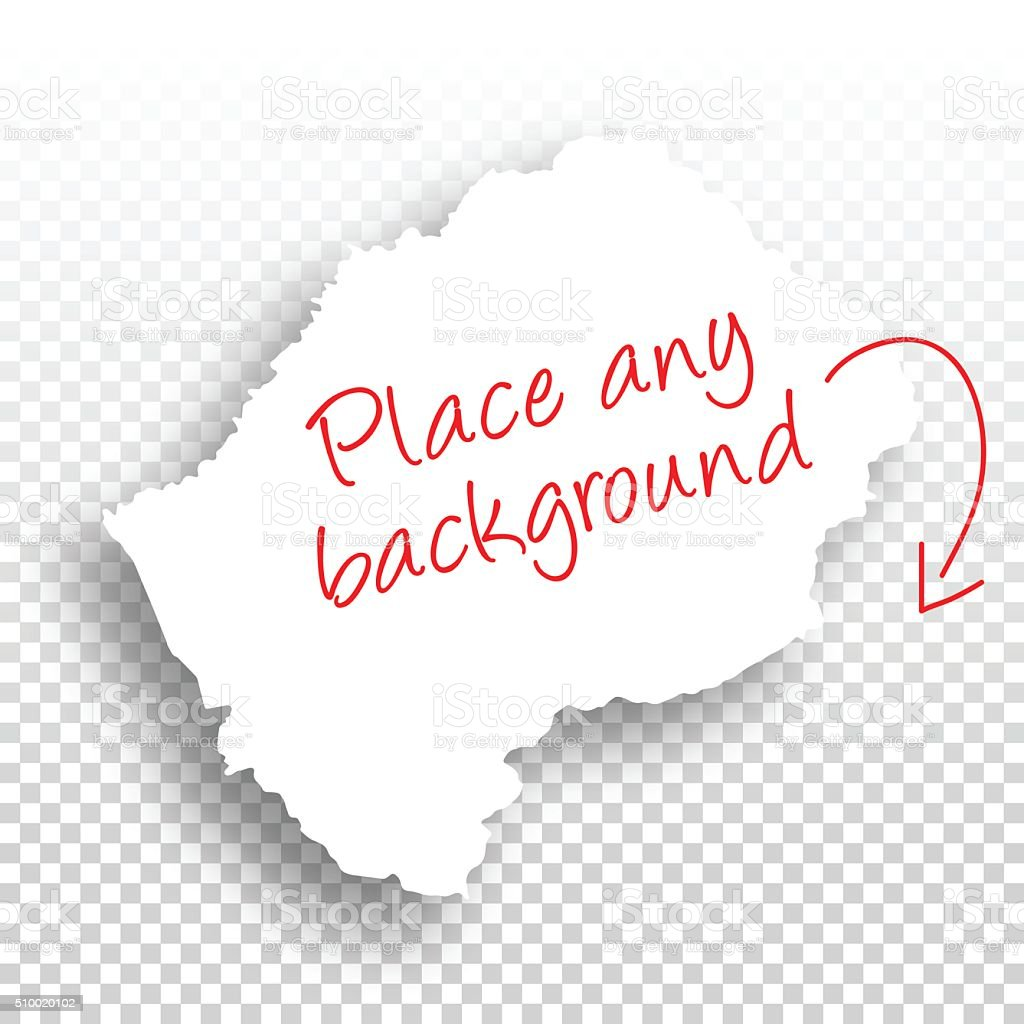 Lesotho Map for design - Blank Background vector art illustration