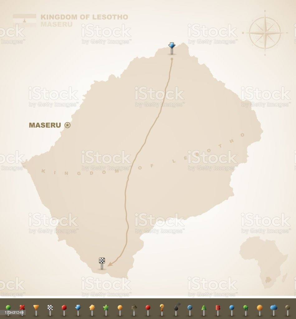 Lesotho royalty-free stock vector art