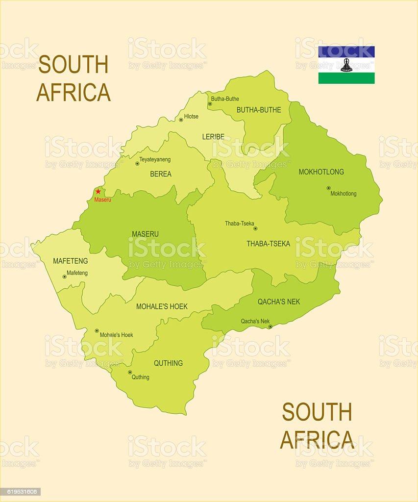 Lesotho vector art illustration