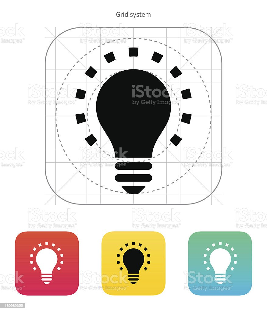 Less light icon. Vector illustration. royalty-free stock vector art