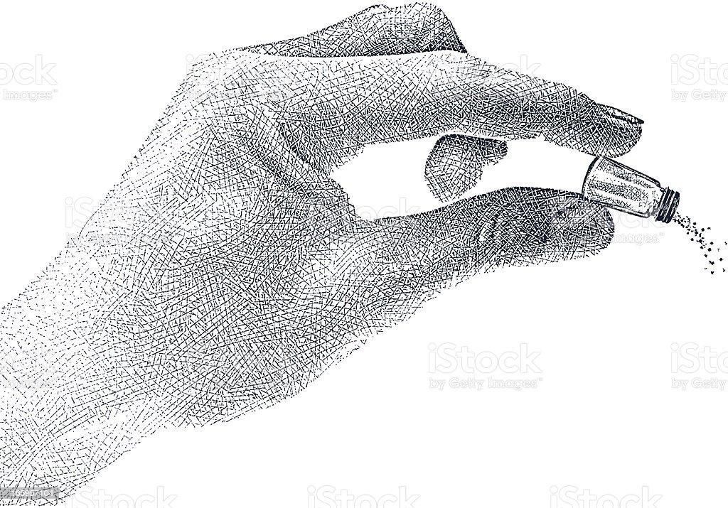 Less Salt vector art illustration