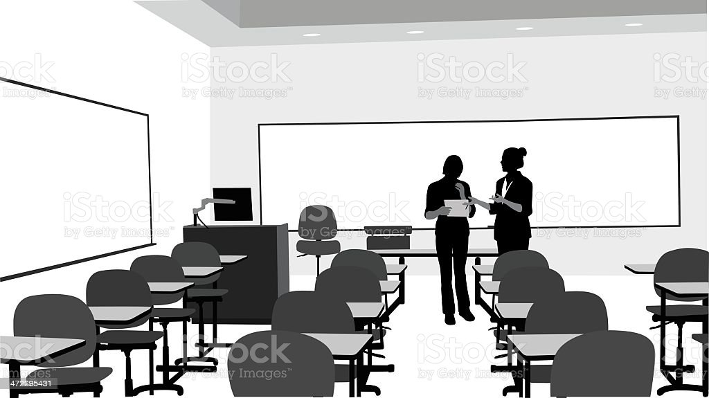 Lessons Vector Silhouette royalty-free stock vector art