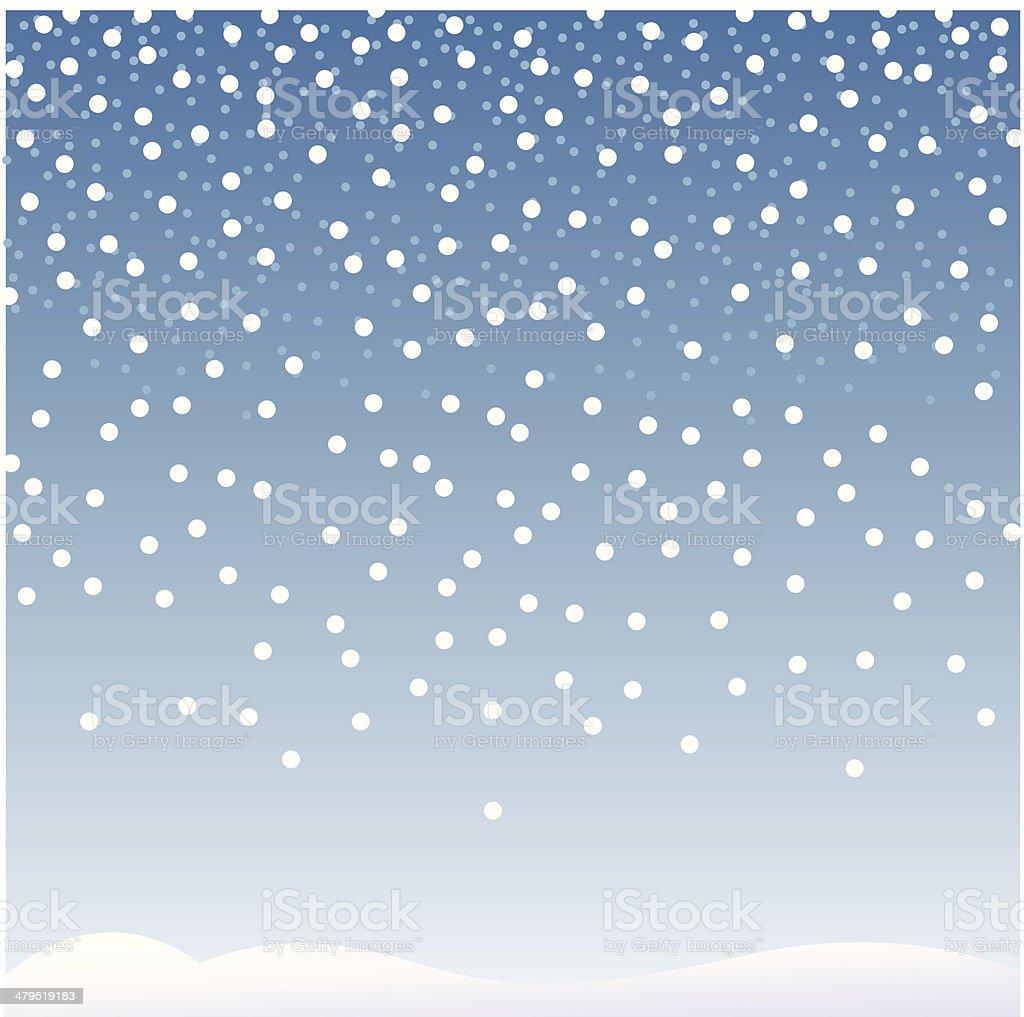 Let it snow vector art illustration