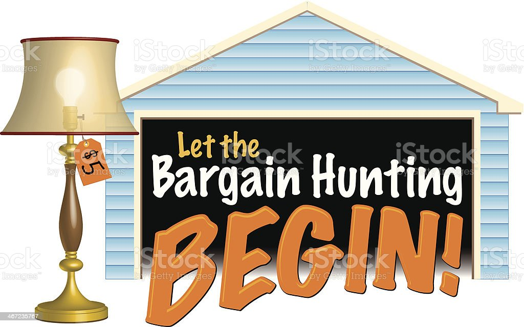 Let The Bargain Heading C vector art illustration