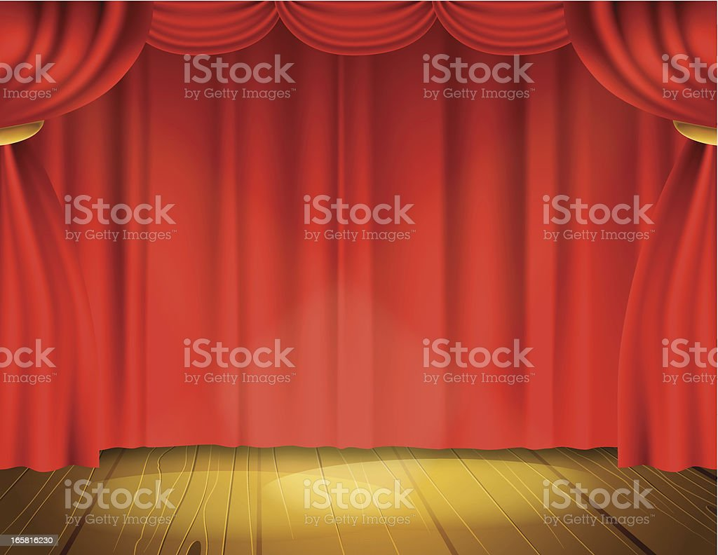 Let The Show Start royalty-free stock vector art