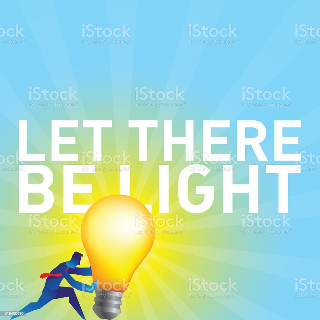 Let there be light vector art illustration