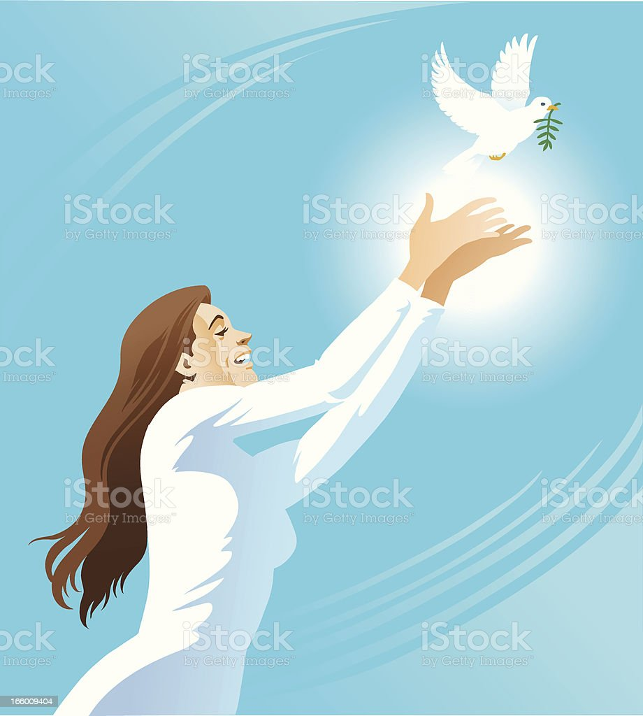 Let There Be Peace royalty-free stock vector art