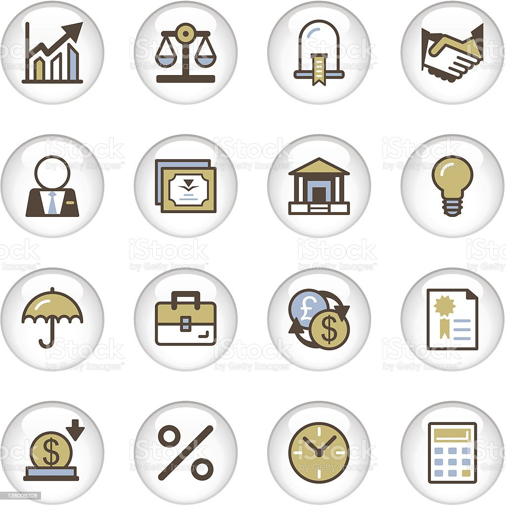 'Letro' Icon Series - Business/Banking royalty-free stock vector art