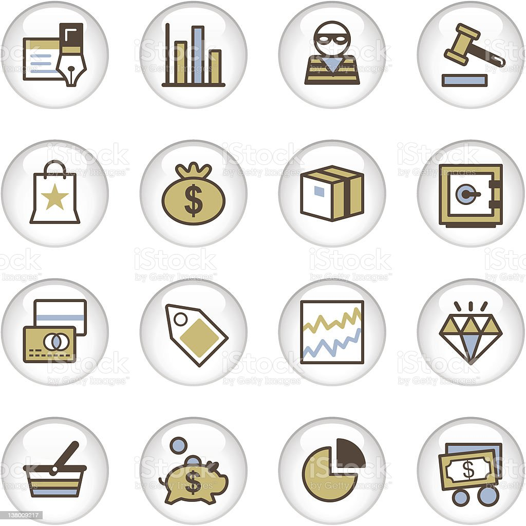 'Letro' Icon Series - Business/Financial royalty-free stock vector art