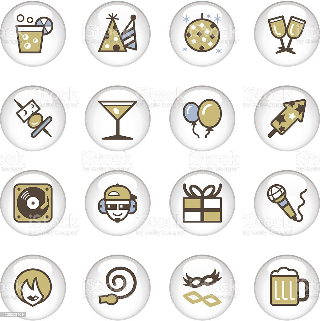 'Letro' Icon Series - Party royalty-free stock vector art
