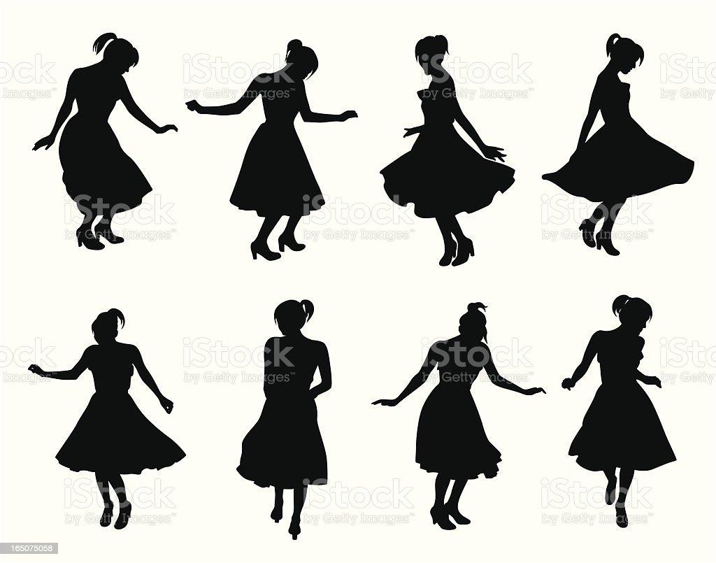 Let's Dance Vector Silhouette royalty-free stock vector art