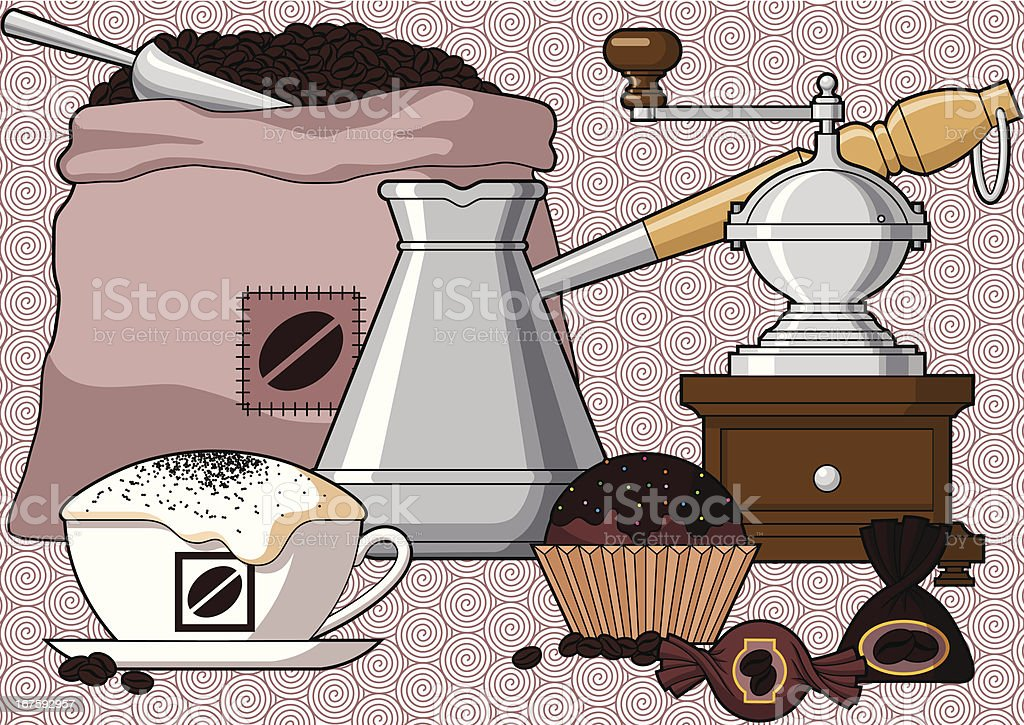 Let's Drink Coffee royalty-free stock vector art
