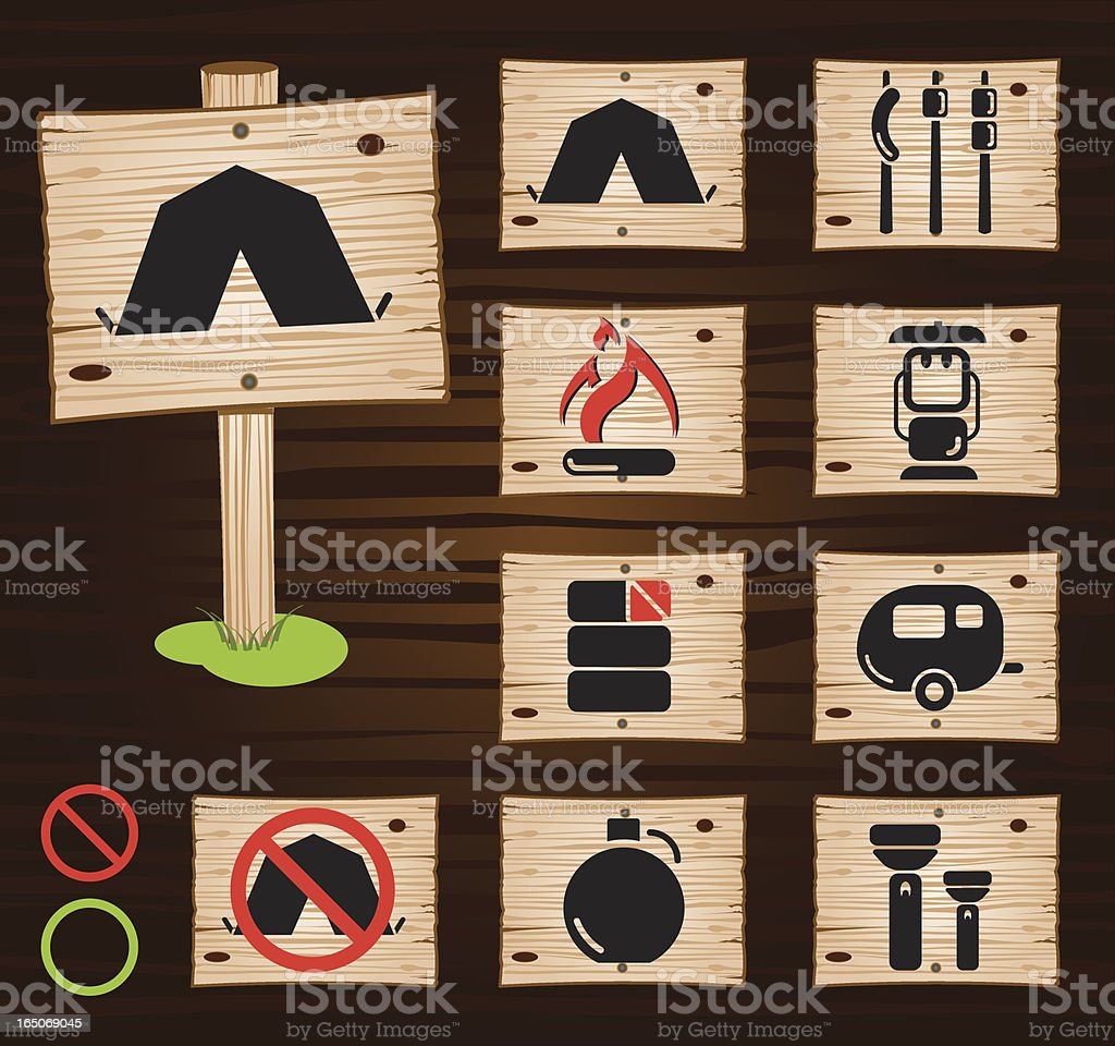 Let's Go Camping royalty-free stock vector art