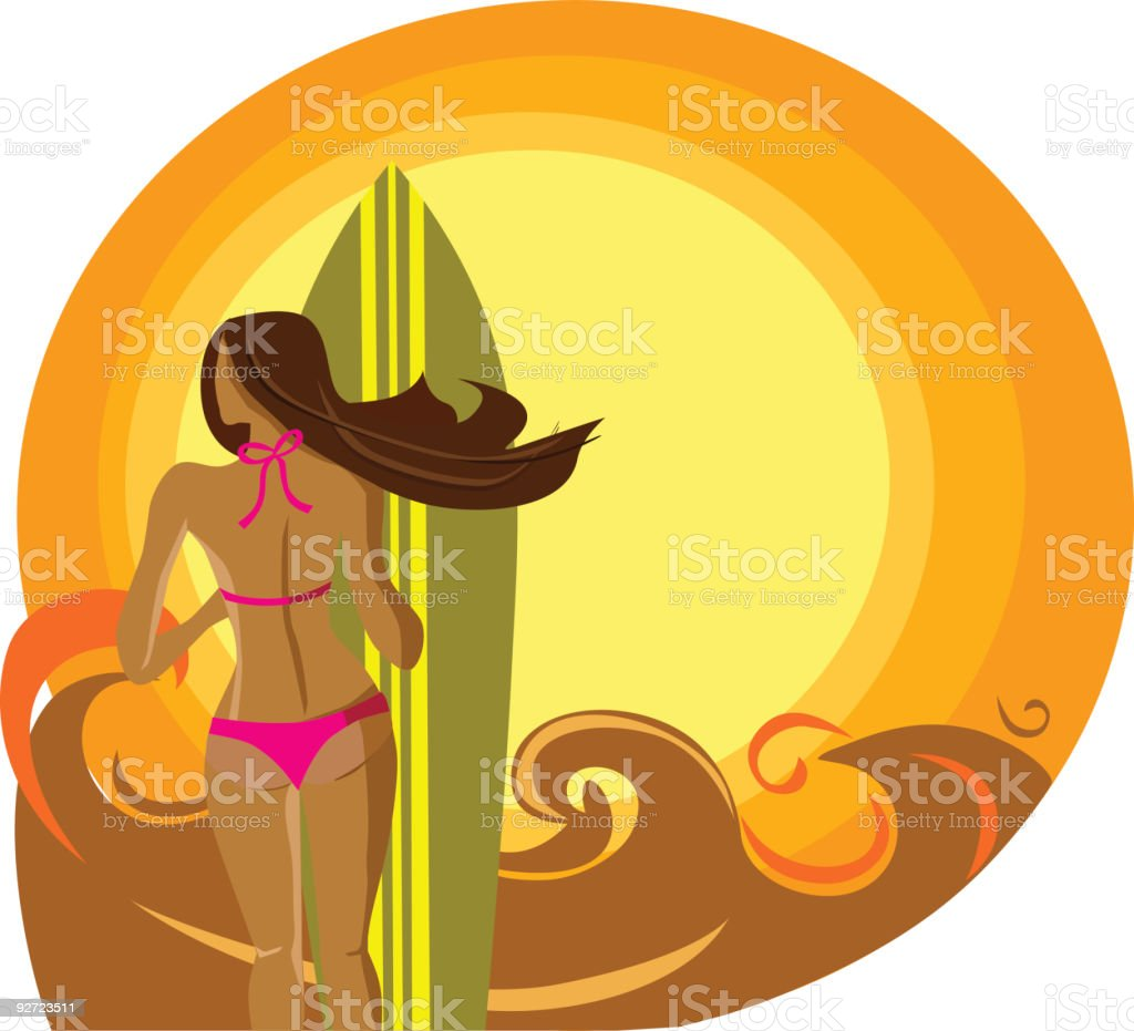 Let's go surfing! royalty-free stock vector art