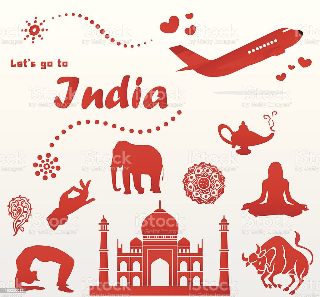 let's go to India royalty-free stock vector art