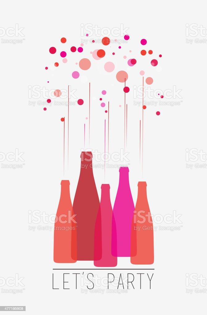 Let's party. vector art illustration