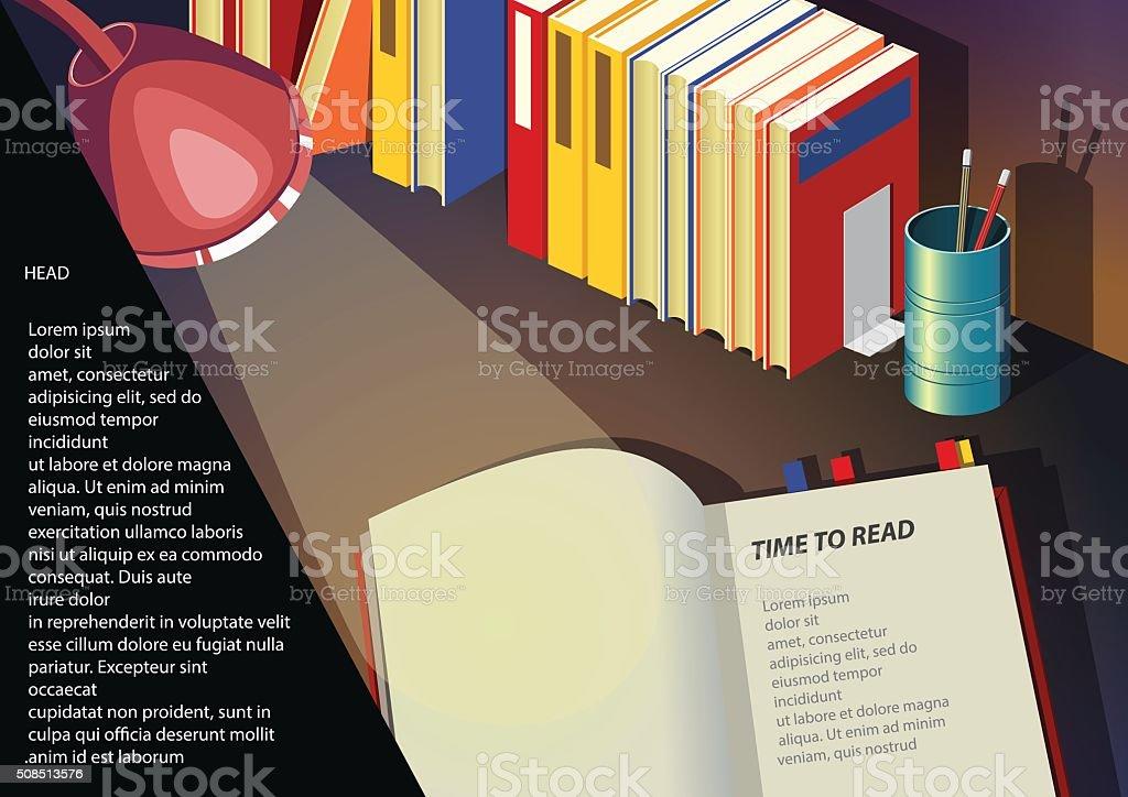 Let's Read vector art illustration