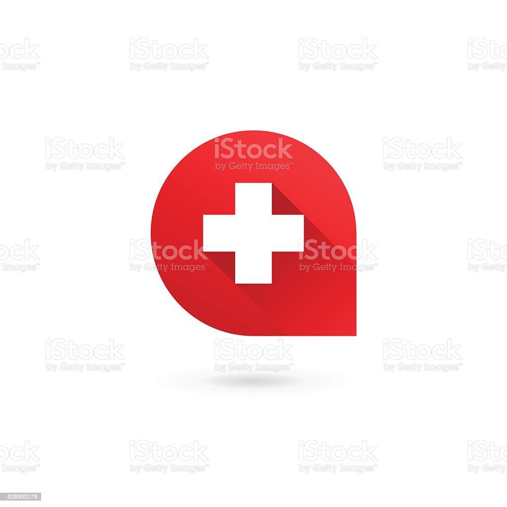 Letter A cross plus icon design template elements vector art illustration