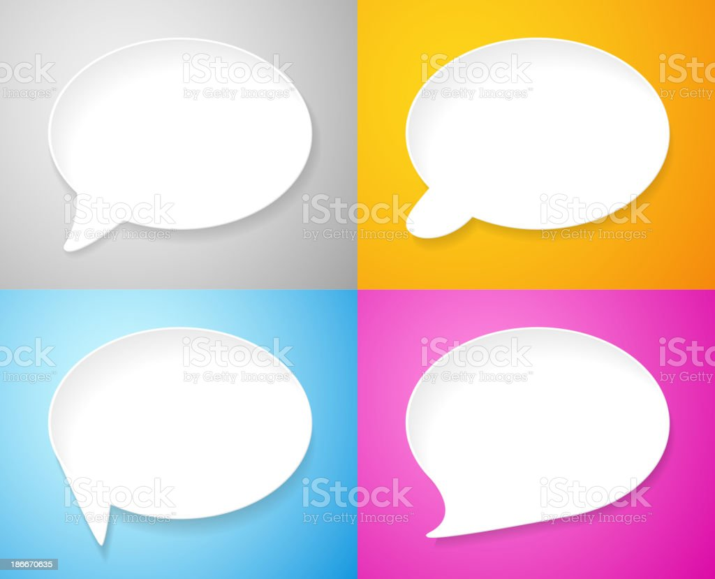 Letter A in speech bubbles royalty-free stock vector art
