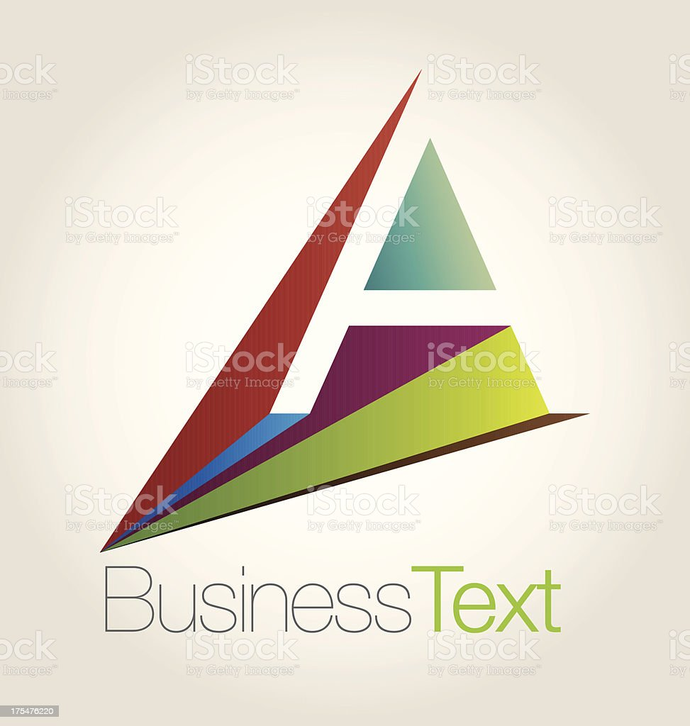Letter A royalty-free stock vector art