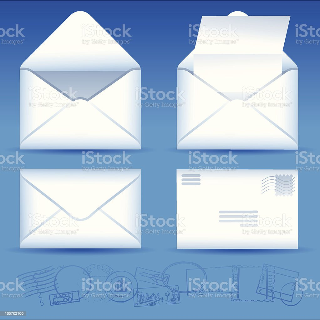 Letter and Envelope Elements royalty-free stock vector art