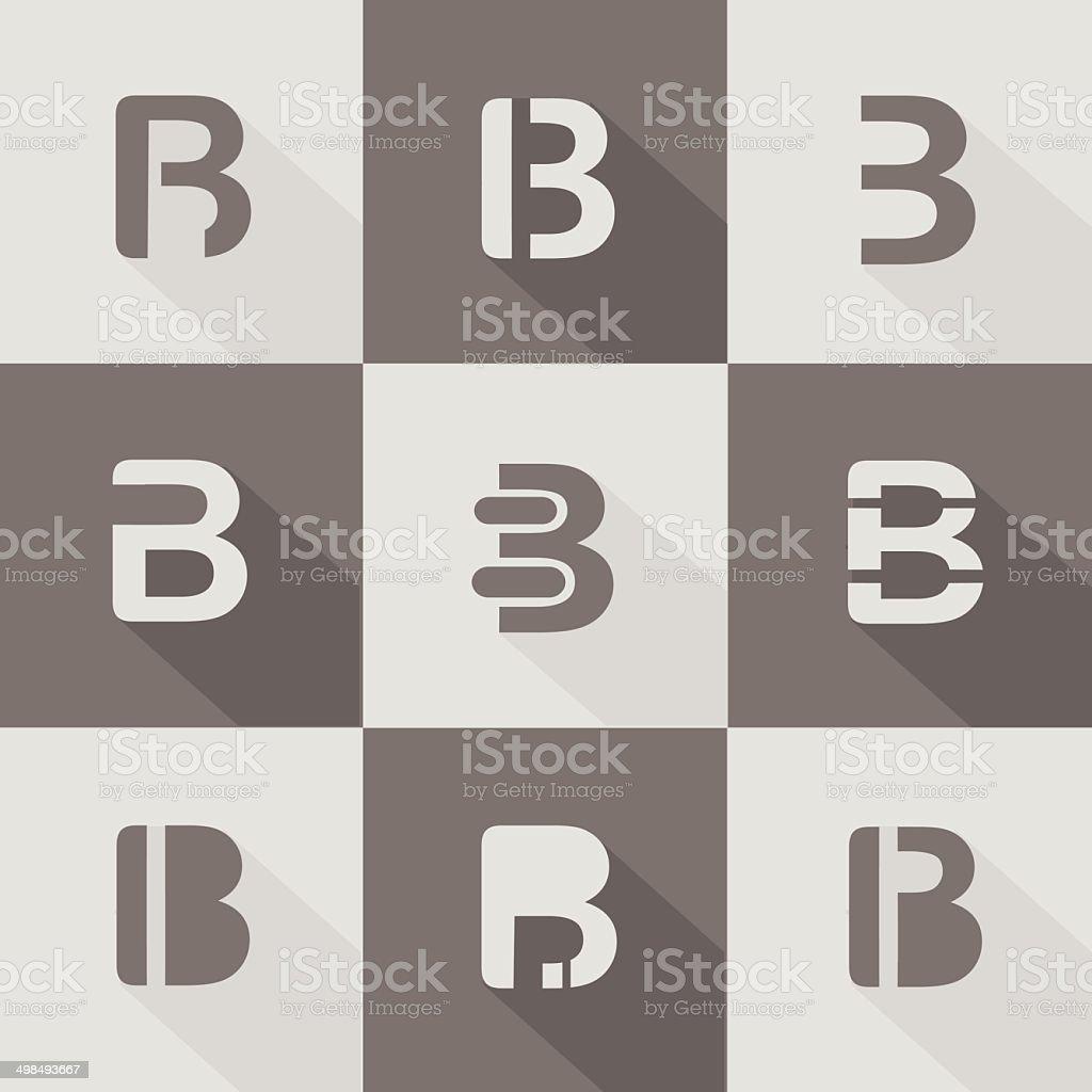 letter B design element for business company vector art illustration
