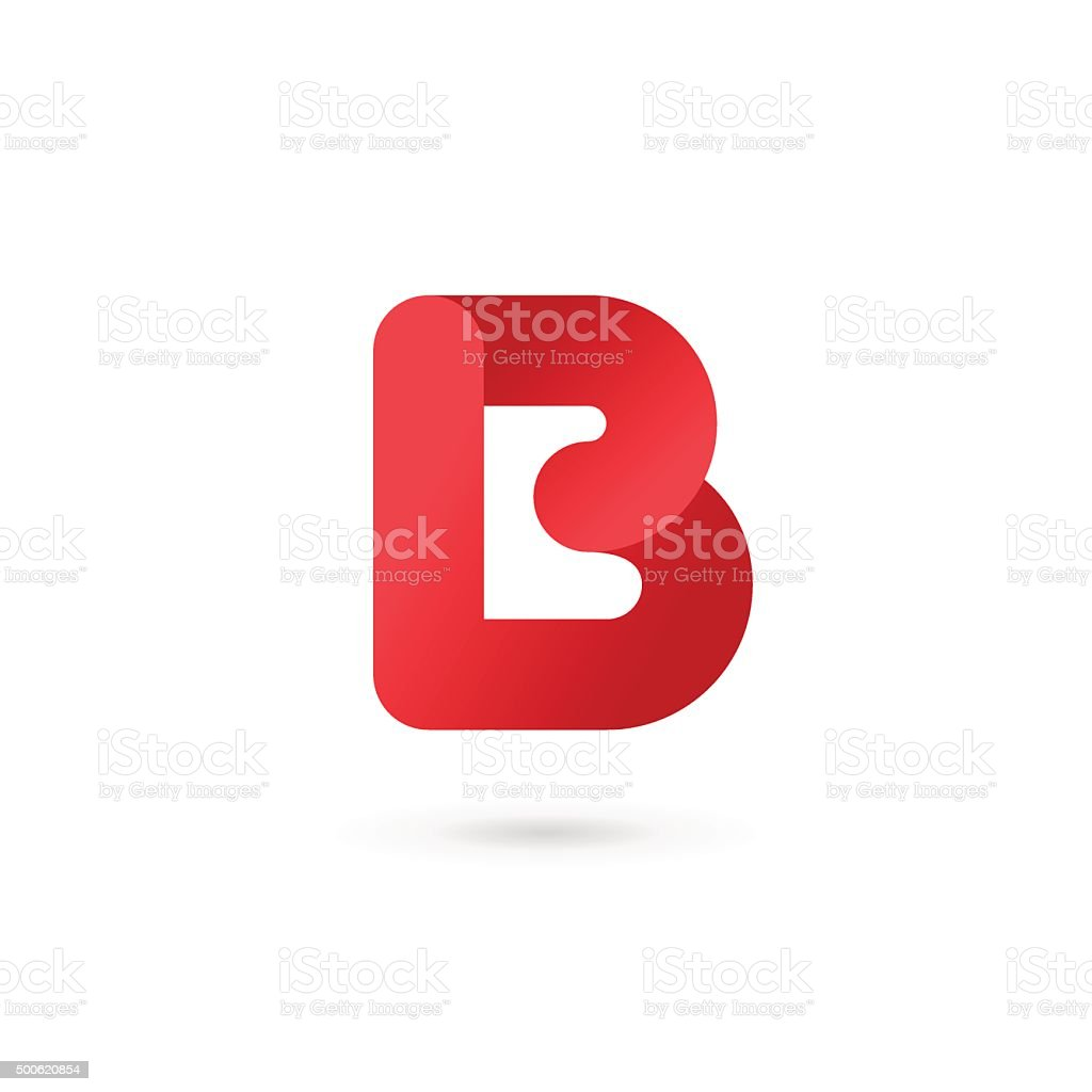 Letter B icon vector art illustration