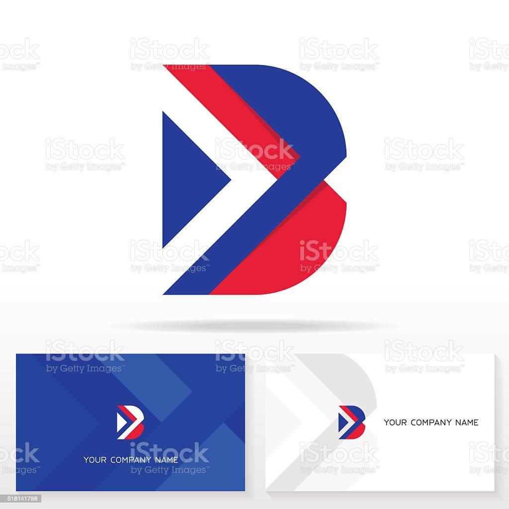 Letter B icons. Design template elements. vector art illustration