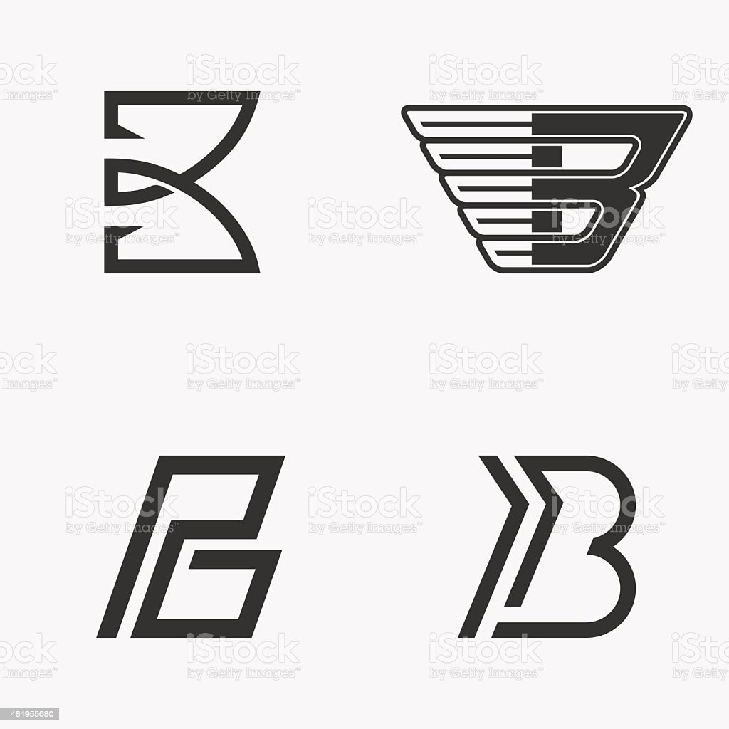 Letter B sign, logo, icon design template elements. vector art illustration