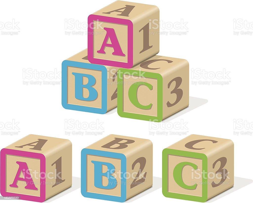 ABC Letter Blocks royalty-free stock vector art