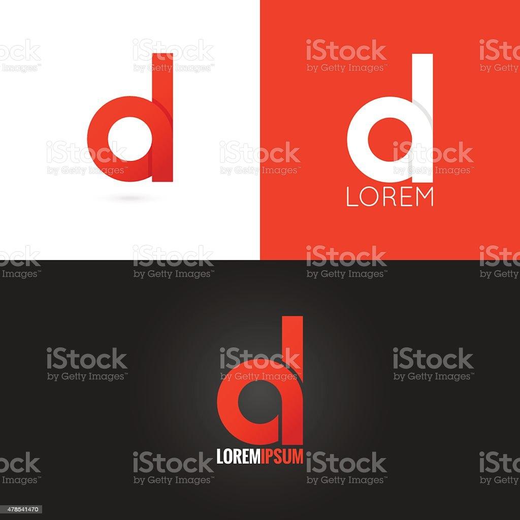 letter D logo design icon set background vector art illustration
