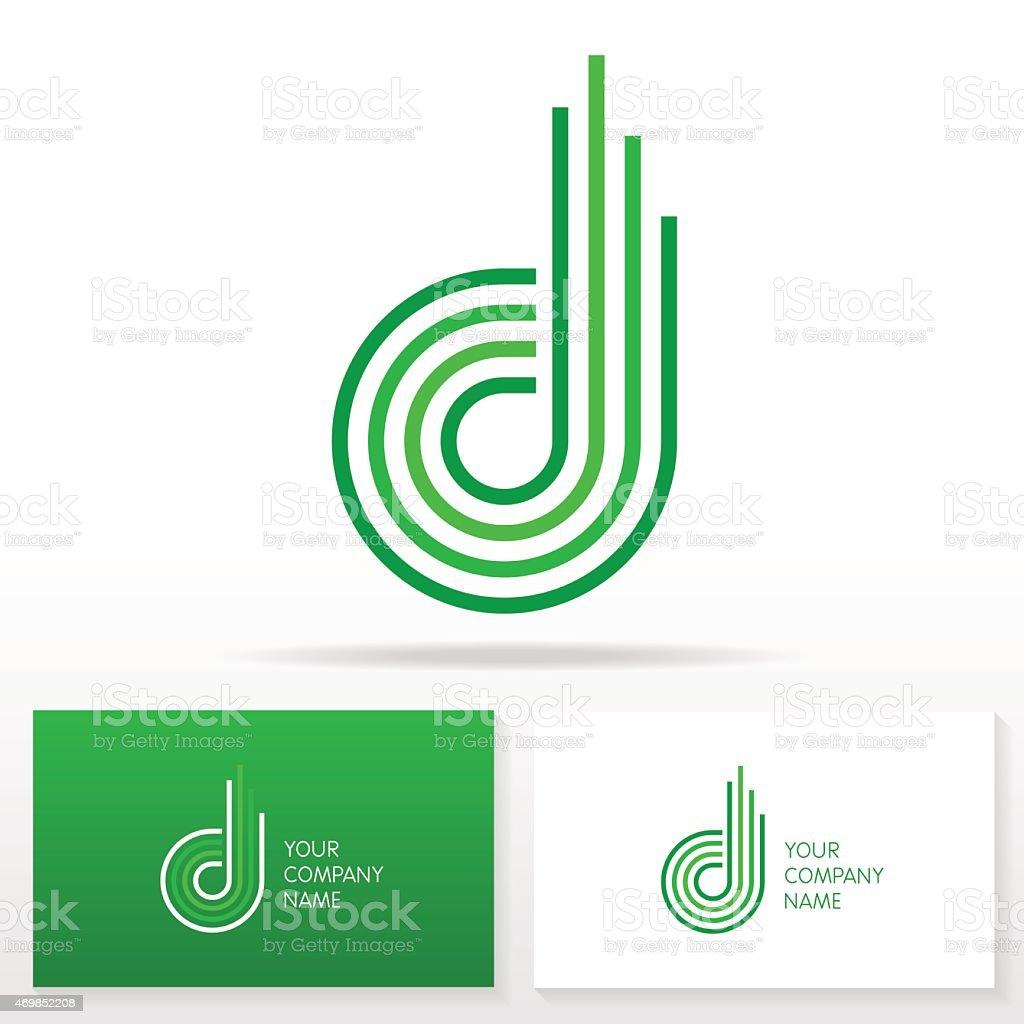 Letter D logo icon design template elements - Illustration vector art illustration