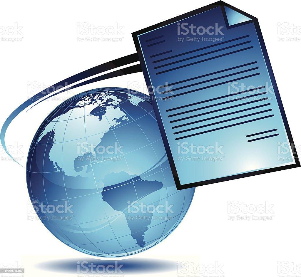 letter earth royalty-free stock vector art