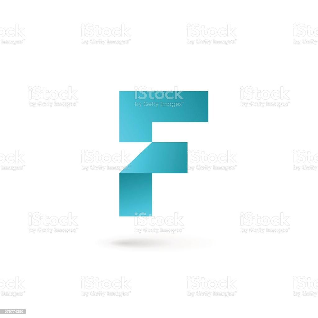 Letter F icon vector art illustration