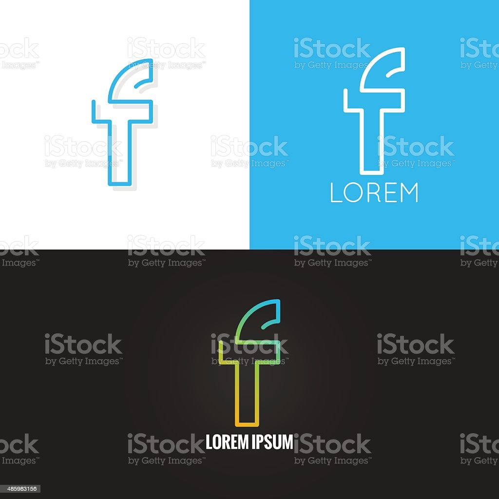 letter F logo alphabet design icon set background vector art illustration