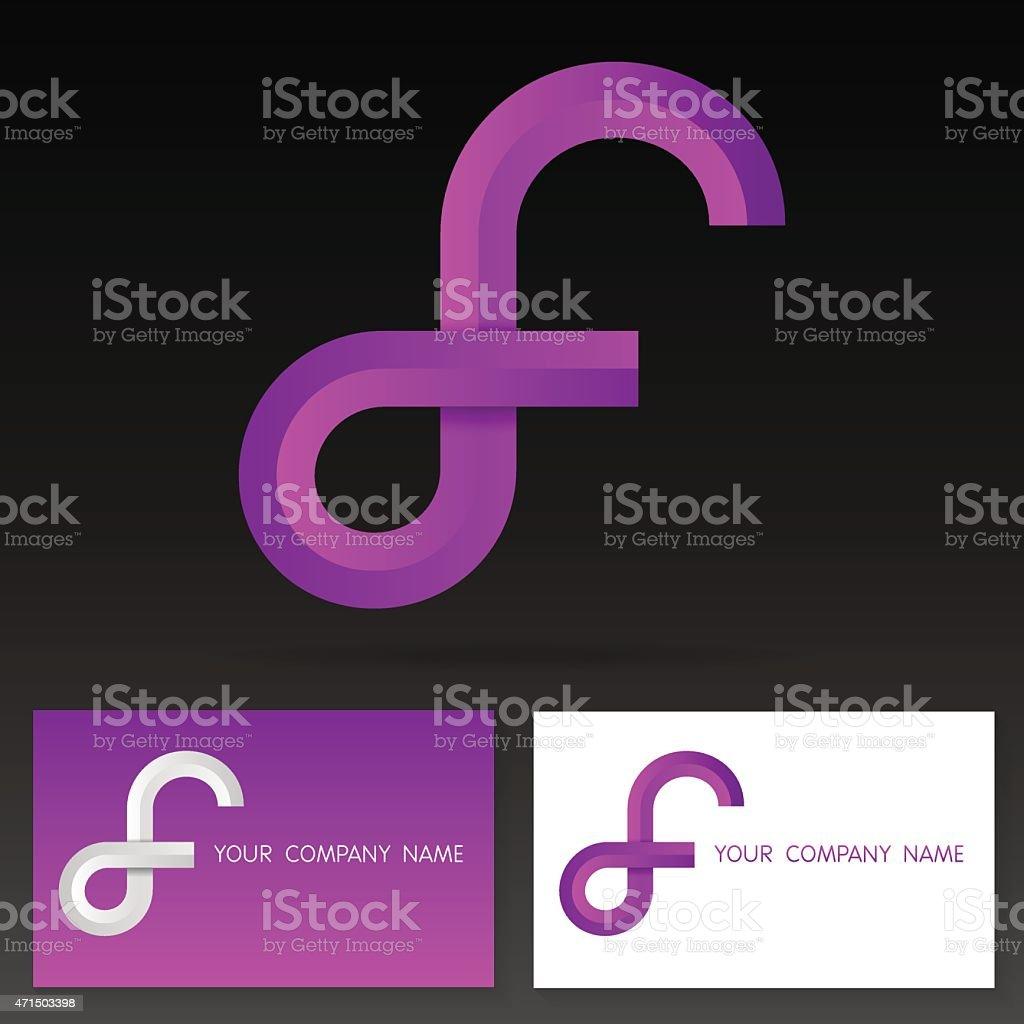 Letter F logo icon design template elements - Illustration vector art illustration