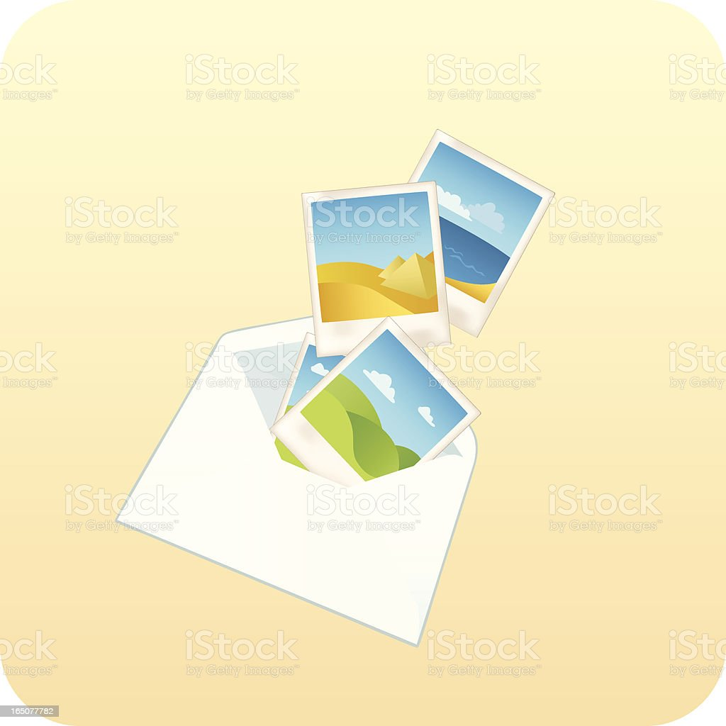 Letter from Far Away royalty-free stock vector art